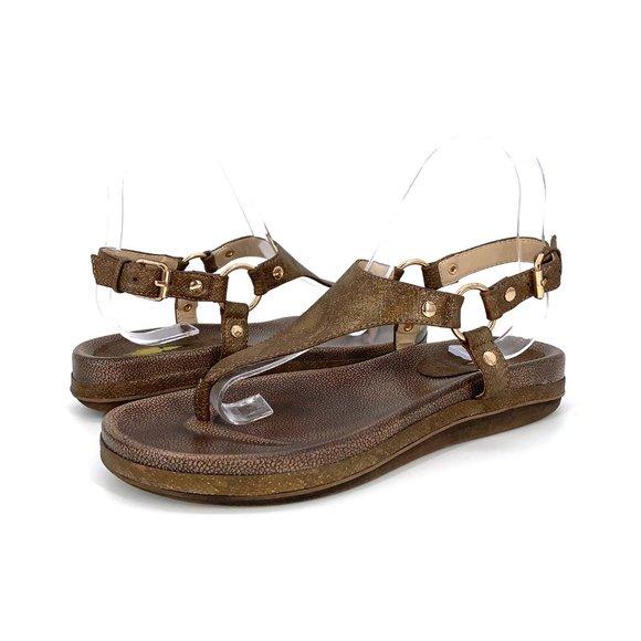 Volatile Aura Brown Thong Sandals